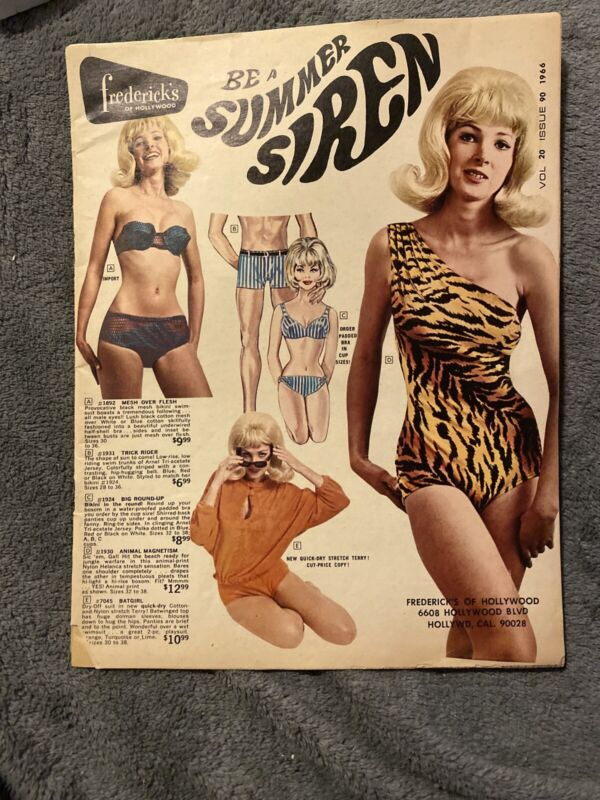 1966 Fredericks of Hollywood Vintage Lingerie Old Catalog Fashion Underwear RARE