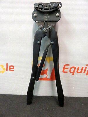 Amp Type Ob 69186-2 Tyco Hand Crimper Crimping Tool Ratchet Coaxicon
