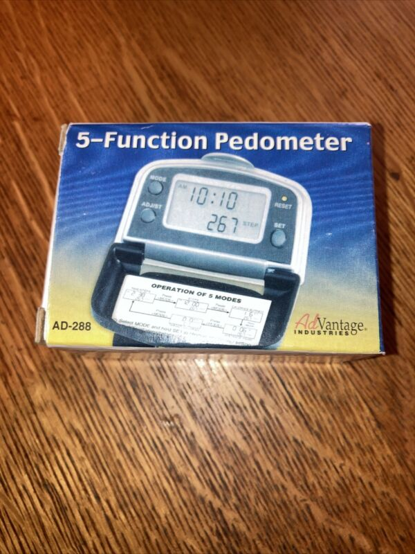 Advantage 5 Function Pedometer Ad-288****NEW IN FACTORY PACKAGING