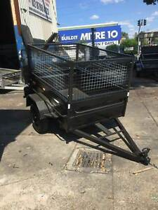 6x4high side box with trailer,600mm cage,spare wheel & 12mnoth rego Smithfield Parramatta Area Preview