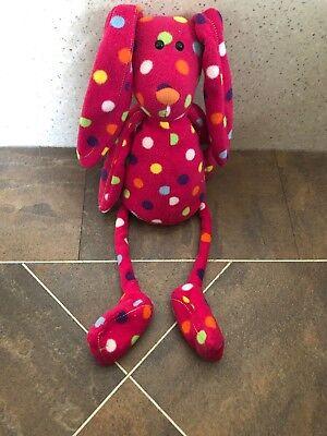 - JELLYCAT LES ANIMALS LE BUNNY RABBIT PINK SPOTTY COMFORTER BABY SOFT HUG TOY 19