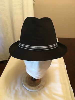 UNISEX BLACK COTTON SUMMER HAT ONE SIZE