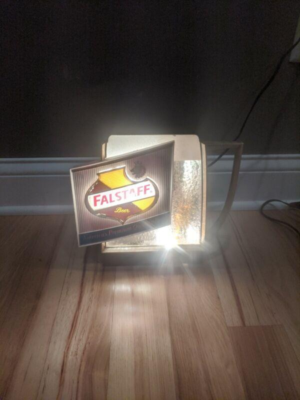 Vintage Falstaff Beer Lighted Bubbler Mug  Bar Sign (Modified, Read Description)