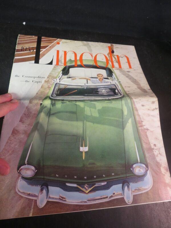 "Original 11"" x 14"" 1953 Lincoln Sales  Sales Brochure 20 pages"
