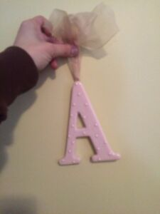 Ceramic A with bow to hang