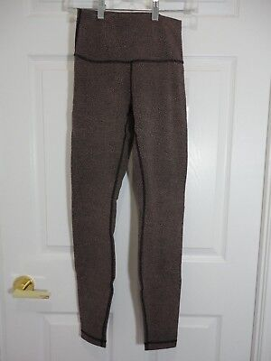 0aa5d6f6a NWT Lululemon Wunder Under Tight HR Power Lux Chakra Jacquard v1 Black  Henna 4