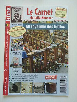 Magazine (comme neuf) - Le carnet du collectionneur 236 (juin 2018)
