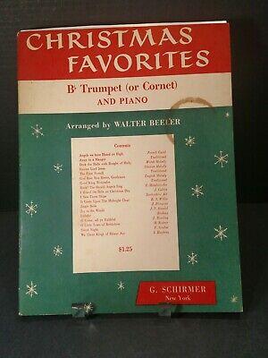 Christmas Favorites Piano Trumpet Cornet 1950's Sheet Music T68 ()