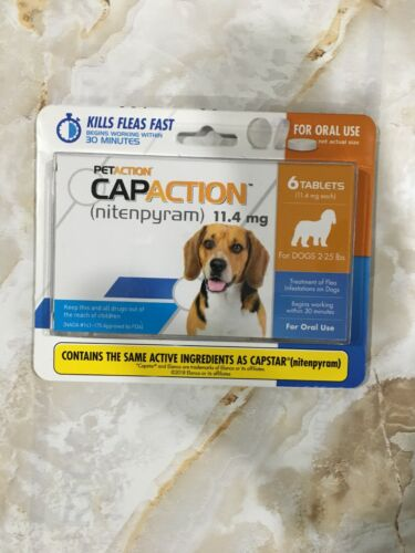 PETACTION CAPCATION Flea Treatment For Dogs 2-25 LBS 6 Tablets April 2021  #5660