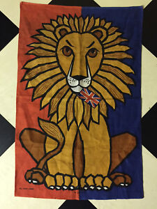 BRITISH LION ALL PURE LINEN TEA TOWEL - BY ULSTER