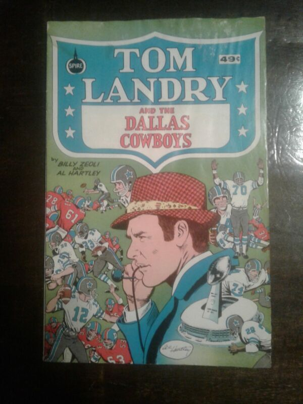 Tom Landry and the Dallas Cowboys Comic Book 1973 Spire Comics
