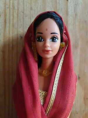 BARBIE STEFFIE PJ FACE WHITNEY TRACY MIDGE INDIAN 1981 DOLLS OF THE WORLD INDIA