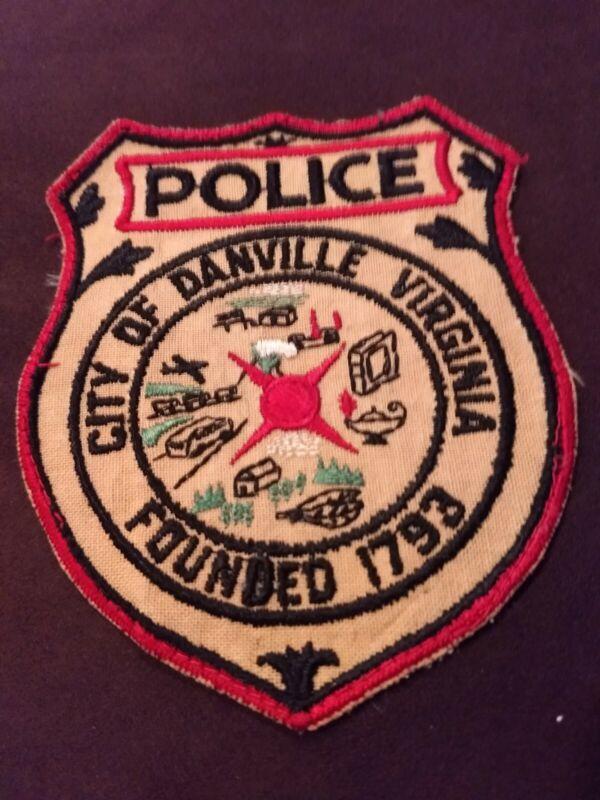 VINTAGE CITY of DANVILLE VA POLICE PATCH  (ORIGINAL) - UNIFORM TAKEOFF