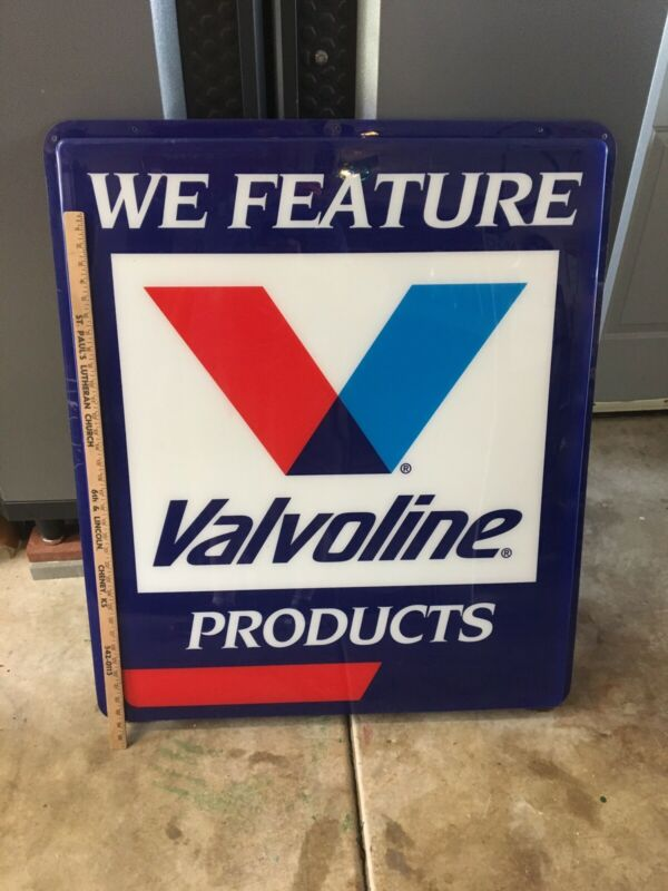 Huge vintage valvoline sign Oil Gas Rare Old Antique 40 X 34 Inches As Is