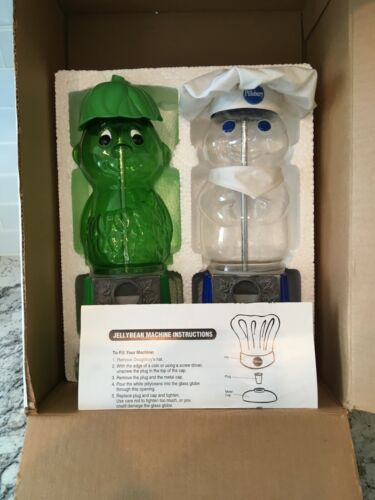 Pillsbury Doughboy and Green Giant Little Sprout Set of 2 JellyBean Machines