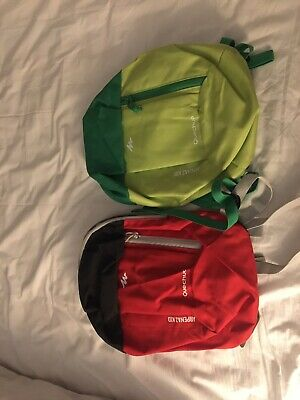 Used, Toddler boy X2  Backpack bag Decathlon Twins  Red Green for sale  Shipping to South Africa