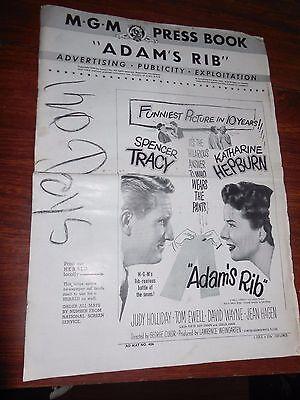 MGM 1941 Press Book ADAMS RIB with Hepburn and Tracy