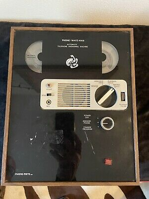 Vintage Phone-Mate 400S  Automatic Telephone Answering Machine Reel to Reel