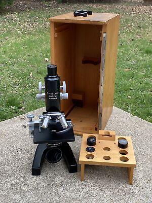 Vintage Microscope Eleitz Leitz Wetzlar Nr.446872 2-objectives 2-eye Pieces