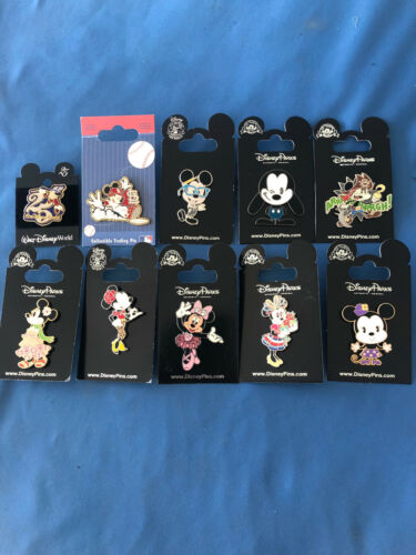 ASSORTED  Disney Pin LOT of 10 pins Set  # 2  SALE NEW on  Cards AUTHENTIC