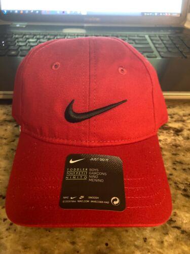 Nike Swoosh Logo Brand Gym Red Baseball Youth Boy