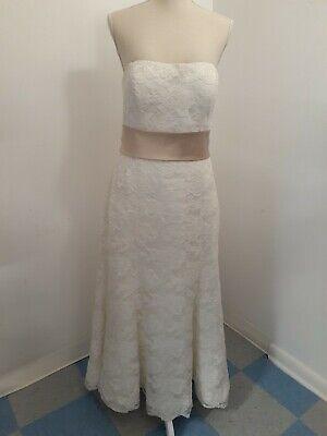 Blue by Enzoani Lace Wedding Dress - Ivory - Size 14