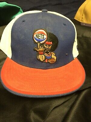 Vintage New Jersey Nets Sports Specialties The Pro 100% Wool Snapback Hat NBA