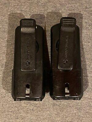 Genuine Motorola Dtr Plastic Belt Clip Holster For Motorola Rvd2020 Radio Pair
