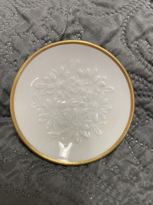 "Franklin Porcelain Miniature Butter Pats Small Plate Suisse Langenthal 3"""