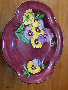 Royal Doulton Pansy Plate D.6402 Cameron Park Lake Macquarie Area Preview