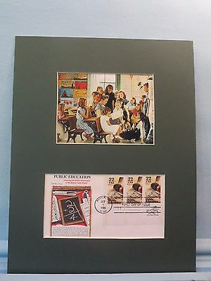 Norman Rockwell - The Teacher & the One Room Schoolhouse & First Day Cover