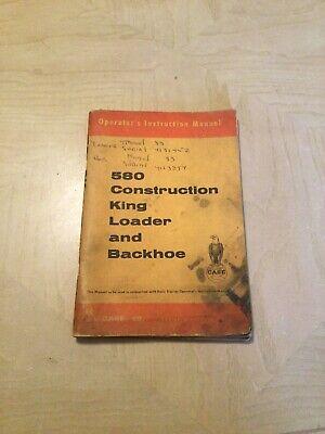 580 Construction King Loader Backhoe Farming Heavy Equip. Manual J.l. Case