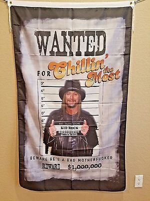 "Kid Rock ""Chillin the Most"" rock & roll flag man cave flag Huge! 3x5 foot!"