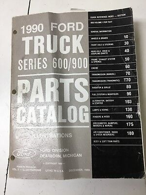 1990 Ford Truck Series 600 900 parts catalog volume 2 Illustrations