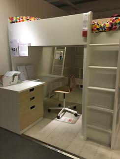 IKEA Bunk Bed, inc Desk and Cupboard