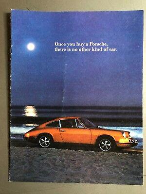 "1972 Porsche 911 ""Once You Buy a Porsche.."" Showroom Brochure Prospekt RARE!!"