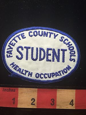 Vtg West Virginia STUDENT Patch FAYETTE COUNTY SCHOOLS HEALTH OCCUPATIONS 64C