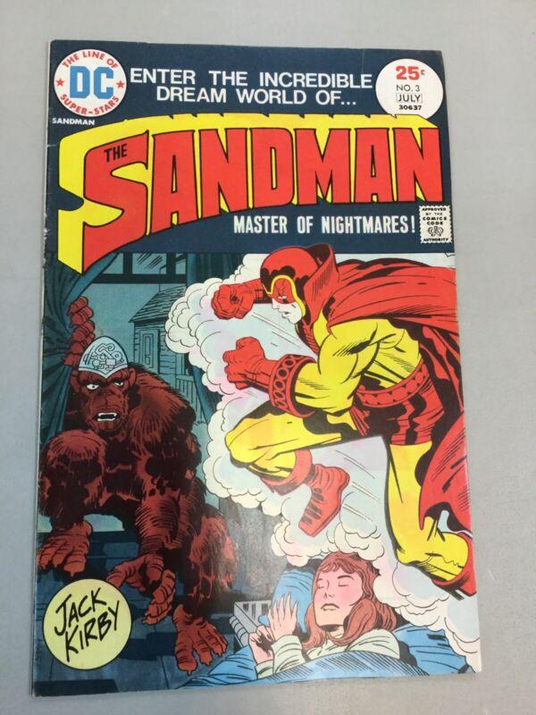 Sandman 3 DC Comics 1975 Bronze Age Jack Kirby