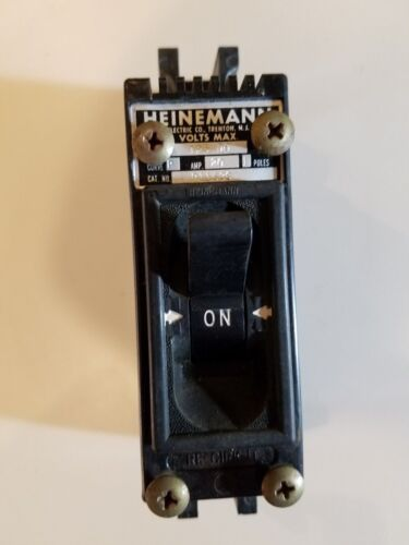 HEINEMANN CIRCUIT BREAKER CAT# P1163S  1 POLE 20 AMP 120 VAC 1163 Tested!