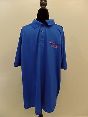 Hostess Brands Polo Shirt Wonder Bread Aramark 1 4 Button Blue Mens Xl