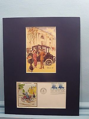 The Baker Electric Automobile & First Day Cover of the Electric Car stamp