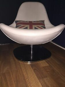 Discontinued White Leather Ikea Tirup Chair - $50 FIRM