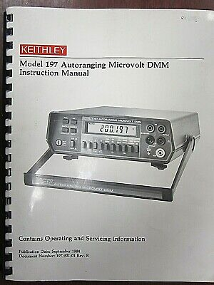 Keithley Model 197 Autoranging Microvovolt Dmm Instruction Manual