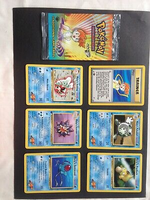 Pokemon 1st Edition Gym Heroes Misty open booster pack bundle