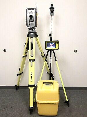 Trimble Rts555 Dr Std 5 Robotic Total Station W Yuma 2 Tablet Survey S6