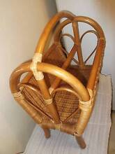 Old classic and traditional style bamboo and cane magazine holder Hornsby Hornsby Area Preview