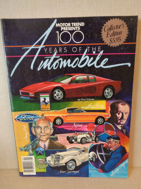 """MOTOR TREND BOOK, """"100 YEARS OF THE AUTOMOBILE"""", COLLECTOR"""