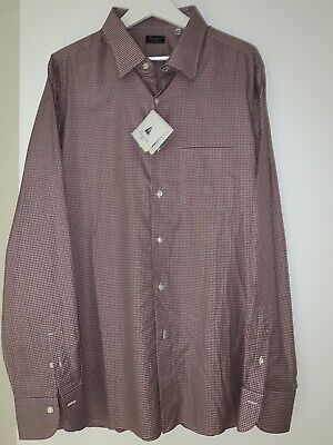 NWT $525 Finamore 1925 Napoli Gingham Plaid L/S Dress Shirt - Sz 18.5 / 46