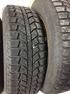 Winter tires, with steel rims tiger paw honda