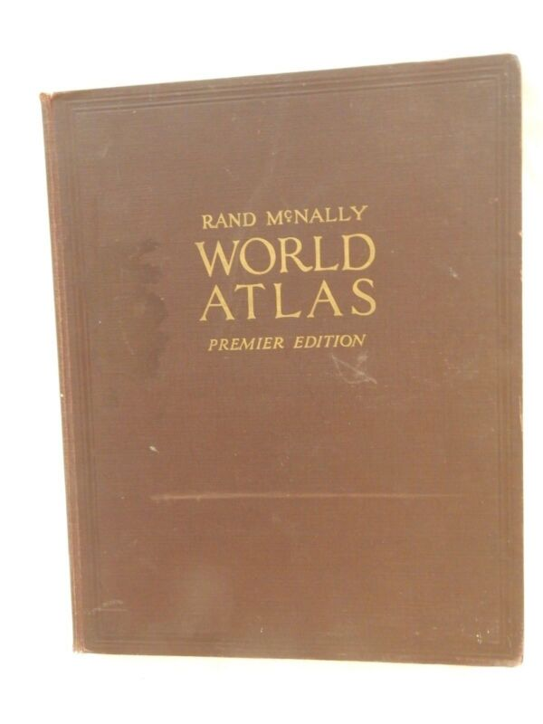 RARE: Rand McNally World Atlas PREMIER EDITION - 1927